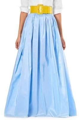 Carolina Herrera Silk A-Line Maxi Skirt