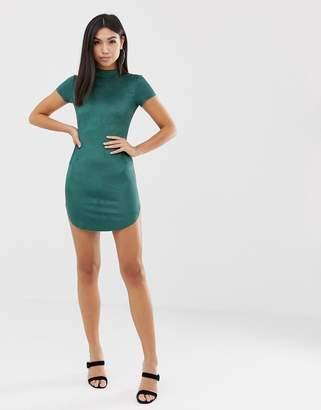 AX Paris curved hem mini dress