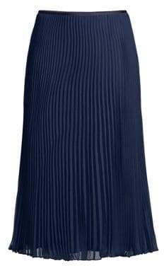 Polo Ralph Lauren Long A-Line Pleated Skirt