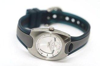 Cross クロス女性用ステンレススチールゴムラウンドホワイトダイヤルスポーツ時計