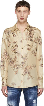DSQUARED2 Beige Flower Western Shirt