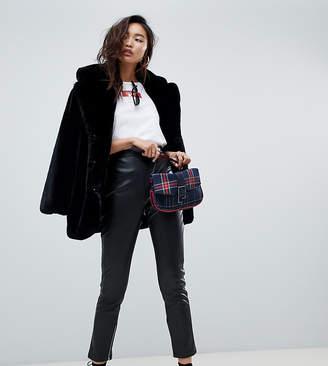 NA-KD Na Kd zip detail faux leather pants in black