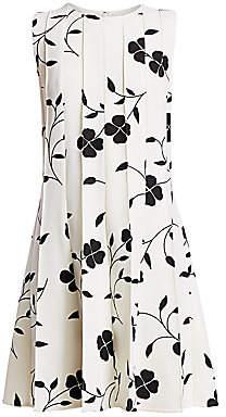 Oscar de la Renta Women's Sleeveless Pleated Mini Dress