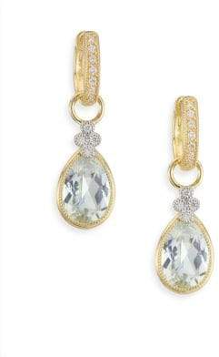 Jude Frances Provence Diamond, White Topaz & 18K Yellow Gold Earring Charms
