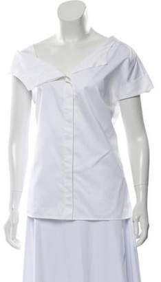 Jason Wu Asymmetrical Shirting Top w/ Tags White Asymmetrical Shirting Top w/ Tags