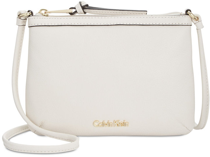 Calvin Klein Calvin Klein Pebble Leather Crossbody