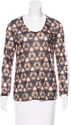 Prabal Gurung Printed Long Sleeve Top