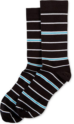 Hue Power Compression Striped Crew Socks