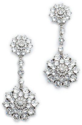Oscar de la Renta Classic Jeweled Drop Earrings $390 thestylecure.com
