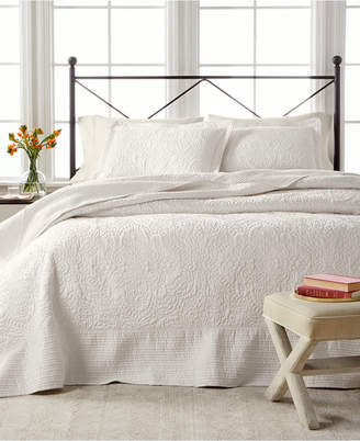 Martha Stewart Collection Lush Embroidery Full Bedspread, Created for Macy's
