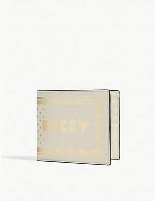 Gucci Guccy print leather billfold wallet