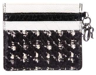 Christian Dior Embossed Leather Charm-Accented Cardholder