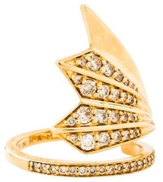 Ron Hami 14K Diamond Plumage Ring yellow 14K Diamond Plumage Ring