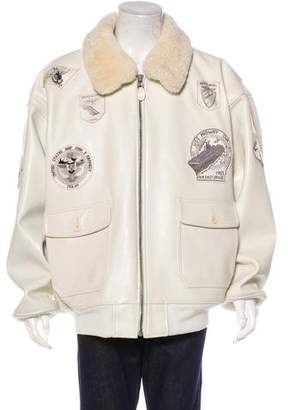 Schott WWII Wings of Gold Leather Bomber Jacket