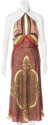 Nicole Miller Printed Silk Dress w/ Tags $125 thestylecure.com