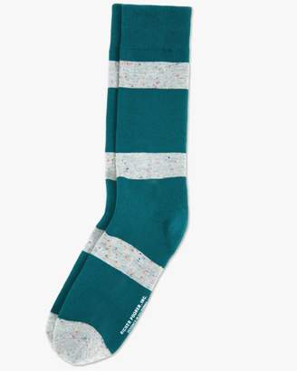 7 For All Mankind London Crew Sock in Green and Grey