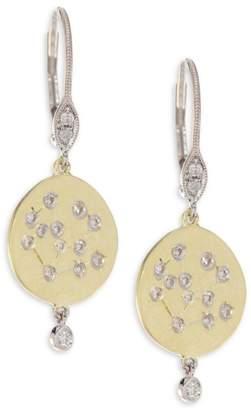 Meira T Diamond & 18K Yellow Gold Disc Earrings