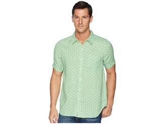 True Grit Avalon Palms Lux Linen Shirt Men's Short Sleeve Button Up