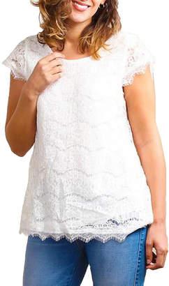 Asstd National Brand Plus Lined Crochet Tunic