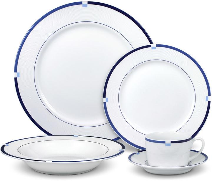 Jet Set Blue 20 Piece Dinnerware Set