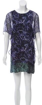 Theyskens' Theory Silk Printed Dress