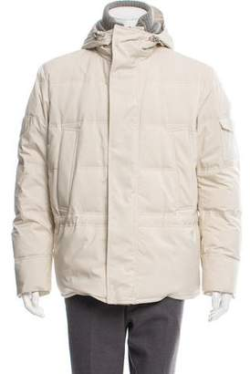 Loro Piana Cashmere-Lined Storm System Down Jacket