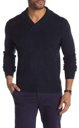 Perry Ellis Shawl Collar Pullover Sweater