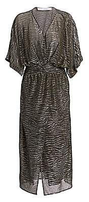 IRO Women's Volsun Metallic Midi Dress