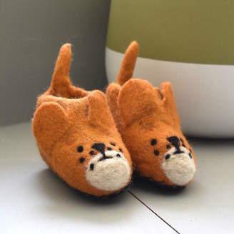 NEW Felt little bear slippers Boy's by Happy as Larry Designs