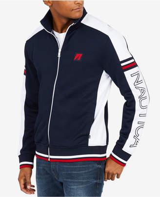 Nautica Men's Retro Colorblocked Embroidered-Logo Track Jacket