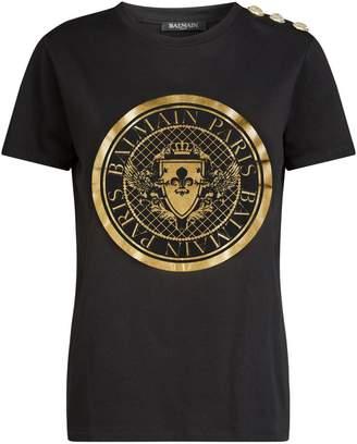 Balmain Medallion Logo T-Shirt