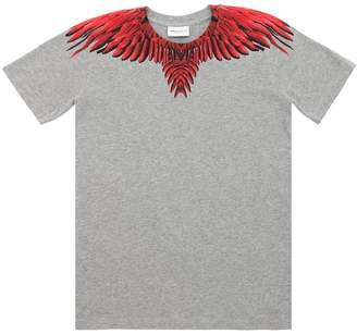 Marcelo Burlon County of Milan Wings Print Cotton Jersey T-Shirt