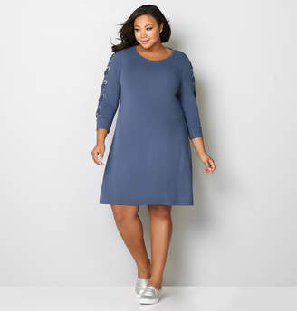 Avenue Lace Up Sleeve Dress