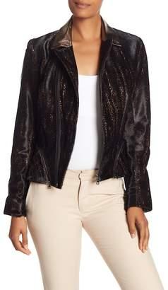 Elie Tahari Emalia Genuine Dyed Calf Fur Jacket