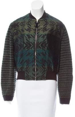 Risto Patterned Bomber Jacket