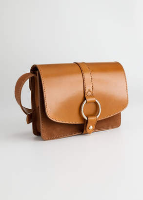 And other stories Gold Ring Leather Bag