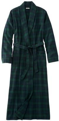 L.L. Bean L.L.Bean Scotch Plaid Flannel Robe