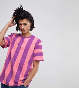 Puma Vertical Stripe T-Shirt In Pink Exclusive To ASOS
