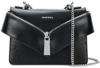 Diesel zip front envelope shoulder bag
