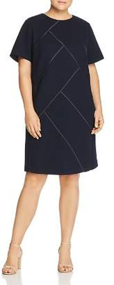 Lafayette 148 New York Plus Henora Wool Shift Dress