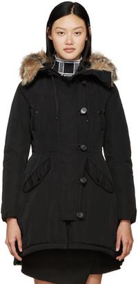 Moncler Black Down Ariette Coat $2,215 thestylecure.com