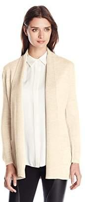 Knits by Hampshire Women's Long-Sleeve Shaker-Stitch Sweater