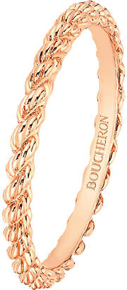 Boucheron Serpent Bohème 18ct pink-gold wedding band