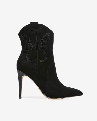 Express Thin Heel Western Booties
