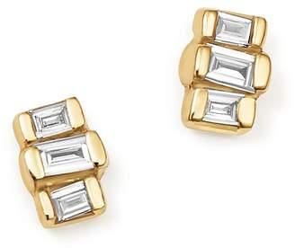 Zoë Chicco 14K Yellow Gold Baguette Diamond Stud Earrings