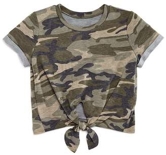 Aqua Girls' Camo-Print Tie-Front Tee, Big Kid - 100% Exclusive