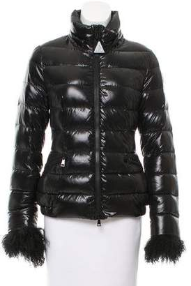 Moncler Sebiniere Fur-Trimmed Puffer Jacket