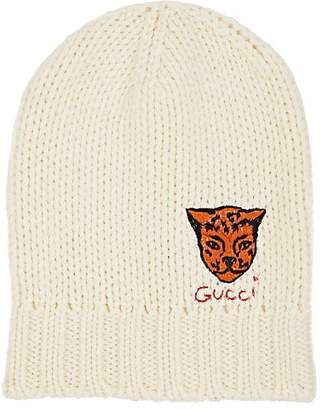 Gucci Men s Tiger-Appliquéd Wool Beanie - Ivorybone cf5d07d6ee26