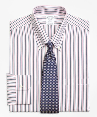 Brooks Brothers Regent Fitted Dress Shirt, Non-Iron Bold Stripe