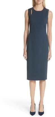 Akris Punto Faux Leather Shoulder Dress